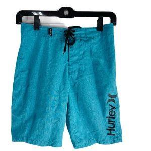 Hurley Boys Blue & Black Board Shorts Swim